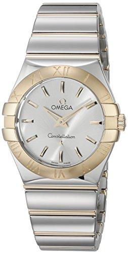 OMEGA Constellation Damen-Armbanduhr 27mm Armband Edelstahl Gehäuse + Batterie Analog 123.20.27.60.02.004