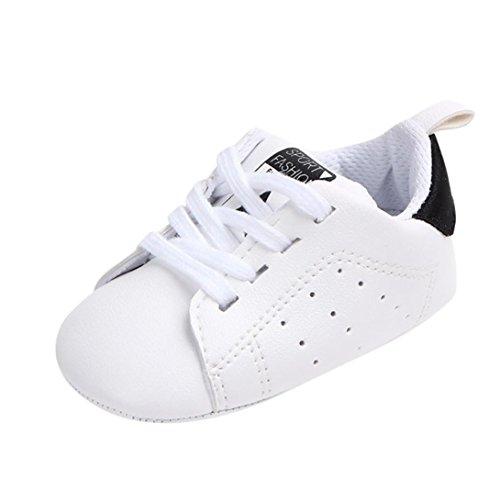UOMOGO Scarpine neonato Primi Passi Sneaker bambini e Ragazze Estate Bambina Scarpe Sandalo 3 a 18 Mesi - Casual (Età: 6~12 Mesi, Nero)
