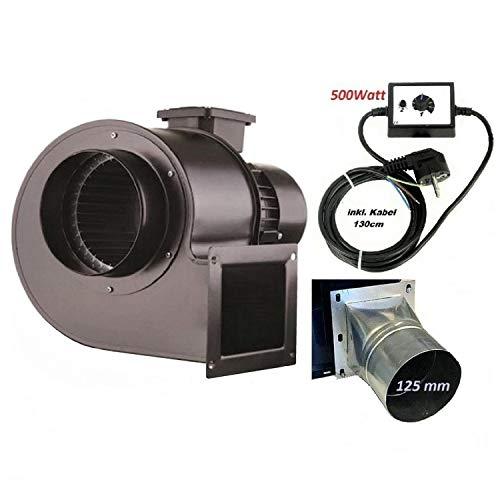 Ventilatore radiale industriale, OB200M con regolatore di velocità da 500 Watt e flangia quadrata,...