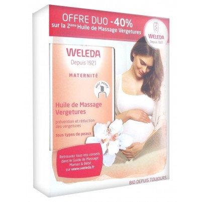 Weleda Maternité Huile de Massage Vergetures Lot de 2 x 100 ml 21