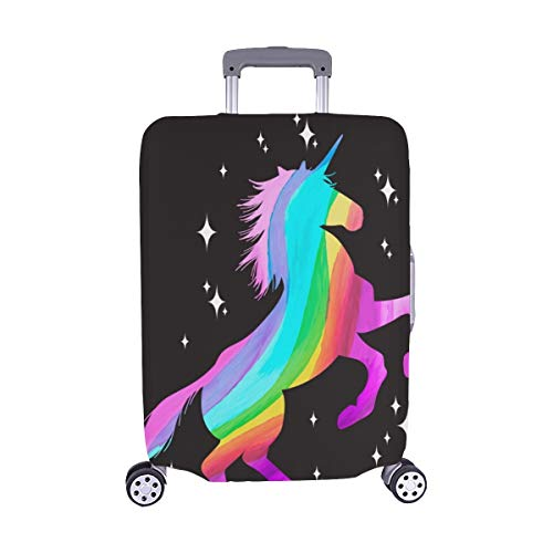 Mythology Set Unicorn Silhouette Unicorn Spandex Trolley Custodia da viaggio Custodia protettiva...
