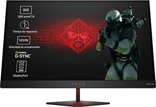 HP OMEN 27 - Monitor gaming de 27' (QHD, 1ms, 165 Hz, Nvidia G-Sync, 2560 x...
