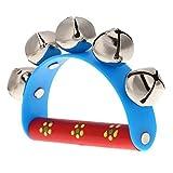 Pandereta pequeno con campanas de bolas campana de metal juguete musical de percusion para nino