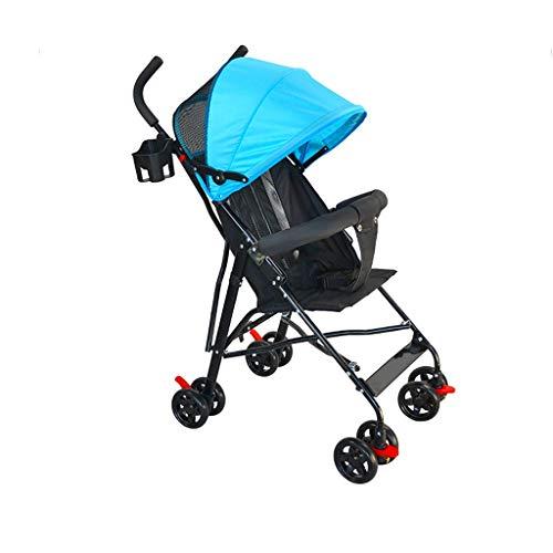 Passeggino estivo a quattro ruote per 1-5 anni, passeggino pieghevole leggero, passeggino a rete traspirante con ombrello (Color : A)