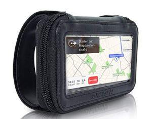 Ullermoto Supersportler Motorrad Handyhalterung für Obere Gabelbrücke Handyhalter Schwarz für iPhone 6 7 8 X Galaxy s5 s6 s7 Motorradhalterung 1