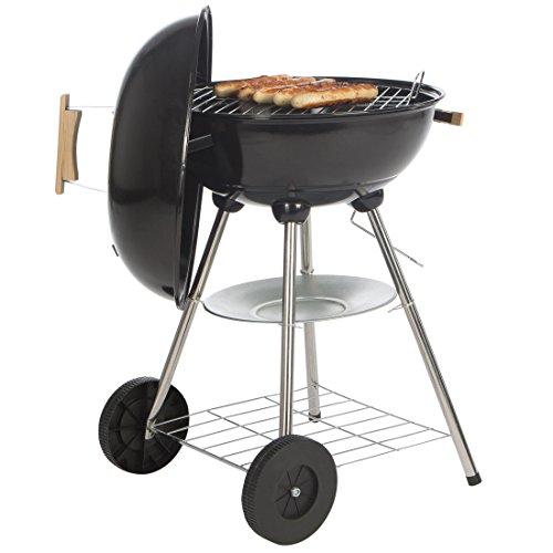 Bruzzzler - Barbacoa de diseño tipo kettle negra