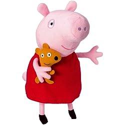 Peppa Pig- Peluche Peppa con Voz (Bandai 84255)