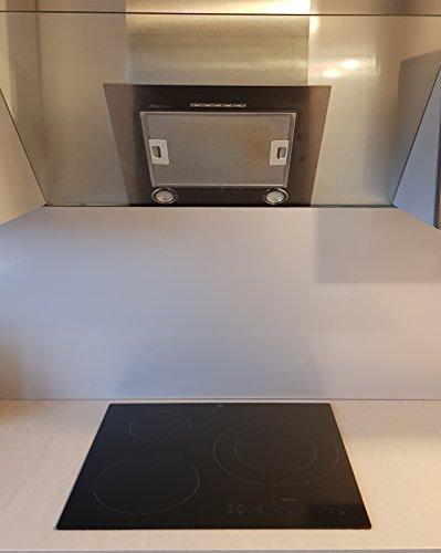 AluCouleur Fondo di cappa/Crédence inox-11Misure-Altezza 40cm x, Acciaio INOX, grigio,...