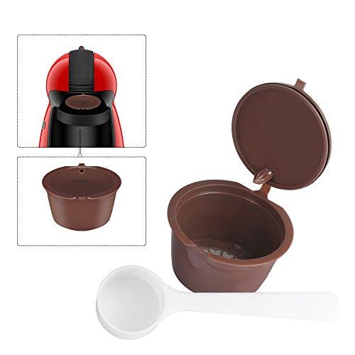 OurLeeme ricaricabile riutilizzabili Dolce Gusto CaffÚ in capsule Compatibile con Nescafe Genio, Piccolo, Esperta e Circolo