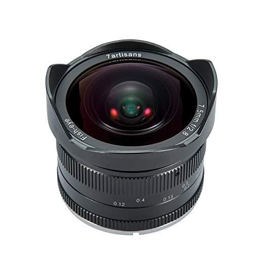 7artigiani 7.5mm F2.8fisheye obiettivo fisso APS-C grandangolare per fotocamere compatte...