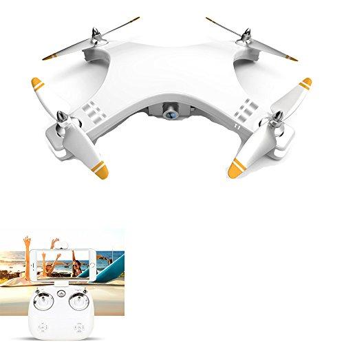 YMXLJJ GPS FPV RC Drone Con Telecamera HD 720P Video Live Motore Brushless Ritorno A Un Tasto Home 5.8 Ghz Quadricottero Dotato Di Scheda Di Memoria 4G Multi-Funzione Aircraft Bianco