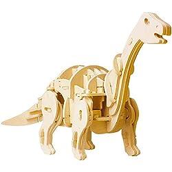 WEI FEI Juguete clásico de dinosaurio Tyrannosaurus Rex para niños, rompecabezas educativo, juguete de inserción de hechizos talla única Style4