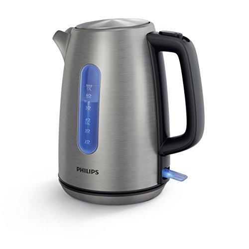 Philips HD9357/10 Bollitore Elettrico in Acciaio Inox, Prestazione che Durano nel Tempo, Acciaio...