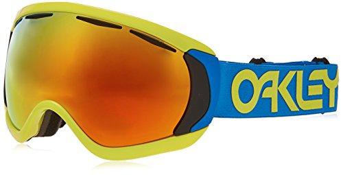 Oakley Canopy 704714 0 Occhiali Sportivi, Blu (Factory Pilot Retina Bluee/Fire Iridium), 1 Uomo
