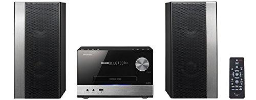 Pioneer X-PM12 Sistema Power Micro Hi Fi CD, USB, FM, Bluetooth, Nero/Antracite