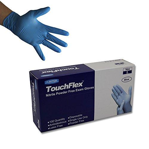 Touchflex n318a-00x L usa e getta in nitrile, senza, AQL 1.5, X-Large/10, blu (confezione da...