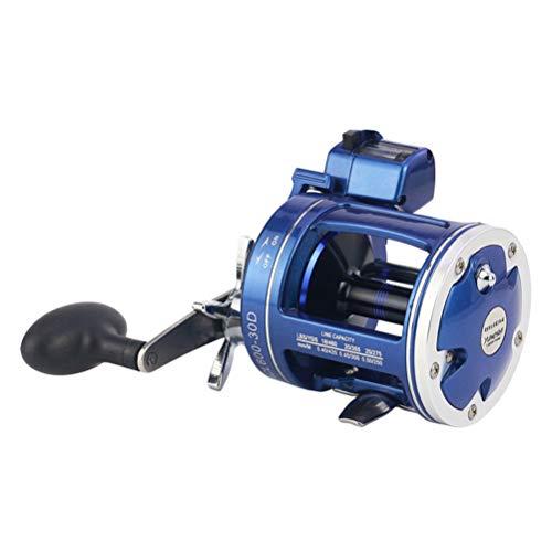 Glomab Mulinello da Pesca misuratore di profondità Elettrico, ACL30 ACL50 Mulinello da Pesca a traina 12BB 3.8: 1 5.2: 1 Mulinello da Pesca in Mare