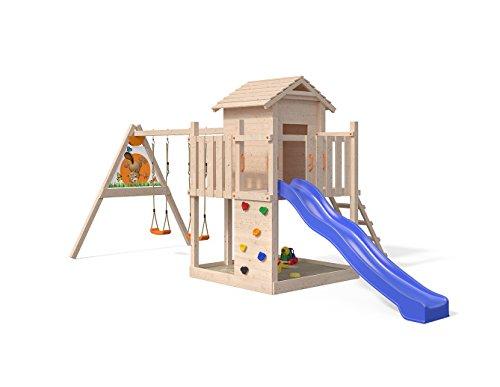 ISIDOR Gigantico Spielturm von Oskar mit Schaukelanbau Kletterturm Baumhaus Rutsche