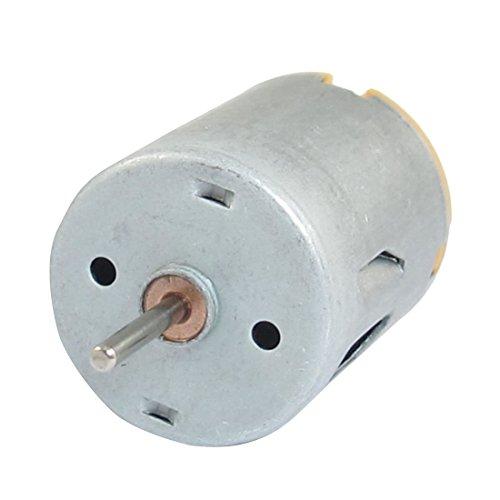 DC Motor - SODIAL(R)8000RPM 9V 68mA Mini DC Motor de cilindrico magnetico de alto par Plata