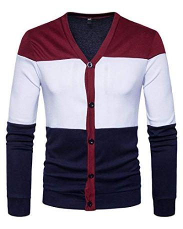 PAUSE Multicolor Solid V Neck Slim Fit Full Sleeve Men's Shrug 2