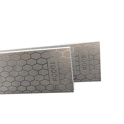 Afilador de Cuchillos de Cocina de Doble Cara de Diamante, Granos 400/1000, Afilador de Cuchillos Manual Profesional Piedra de Afilar