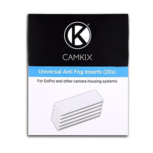 CamKix anti-fog Inserti per GoPro Eroe 4Nero, Argento, 3+, 3, 2, 1e altri fotocamera e alloggiamento sistemi-20Confezione riutilizzabile umidità rimozione inserti