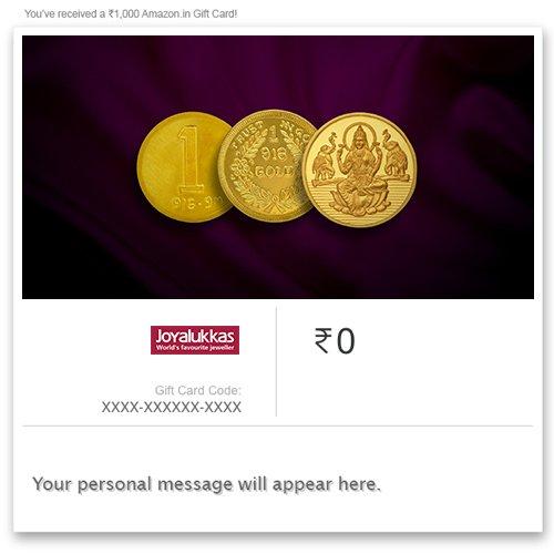 Joyalukkas Pure Gold Coin - Digital Voucher