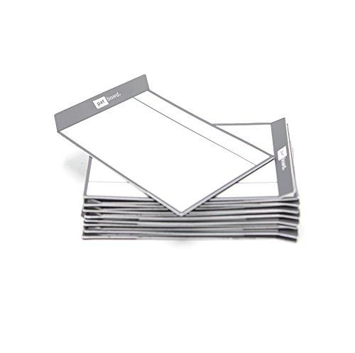 PATboard Lavagne di Scrum e Lavagne di Kanban TASKcards - Magnetico - Set di 16 Carte Grigie