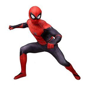 SPIDERMANHTT Spiderman Cosplay Disfraz Adulto Disfraces de Halloween Accesorios Impresión 3D Spandex Lycra (Color : Red, Size : XL)