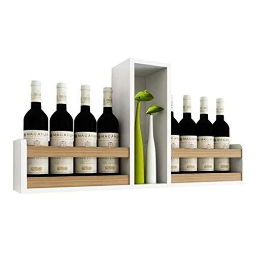 Portabottiglie Mobilia Portabottiglie Vino Cremagliera Appeso Vino Parete Rack Parete 9 Bottiglie Di...