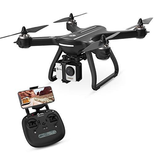 Holy Stone Drone FPV con videocamera HD 1080p HS700 Torna a GPS RC Quadcopter per Adulti Principianti con Motore Brushless Seguimi WiFi Transmission 5G Compatibile con Fotocamera