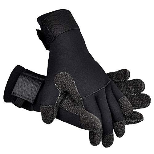 TZTED Muta da Sub Guanti 5Mm Elasticizzato Neoprene Dive Gloves Five Finger Gloves per Lo Snorkeling...