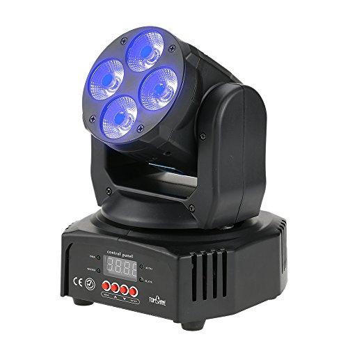 Tomshine 60W 4 LED RGBW+Amber+UV 6-IN-1 Supporto Luci Discoteca Testa Mobile L'attivazione...