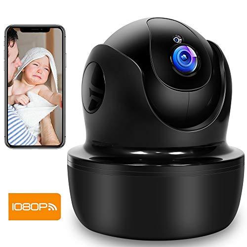 Supereye 1080P Telecamera Sorveglianza Wifi, videocamera IP Interno Wireless con Visione Notturna, Audio Bidirezionale, Notifiche in tempo reale del sensore di movimento, Allarme via App