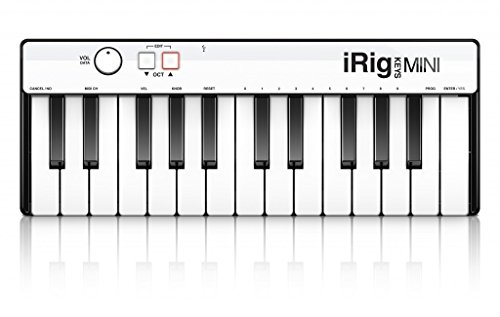 IK MULTIMEDIA iRig Keys MINI - Mini Pianoforte digitale a 25 tasti per sistemi Android, iOS, PC e MAC