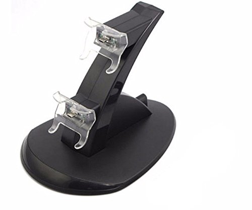 GADGETS WRAP LED Dual Mirco USB Charger Dock Station for Xbox One One X One S Controller.