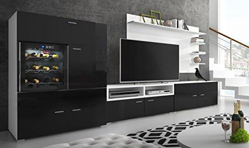 Home innovazione - Mobile soggiorno - Parete da soggiorno con Cantinetta La Sommeliere per vino,...