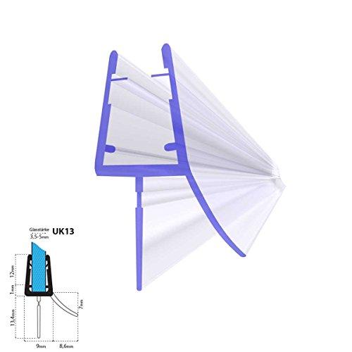 STEIGNER Duschdichtung, 80cm, Glasstärke 3,5/ 4/ 5 mm, Gerade PVC Ersatzdichtung für Dusche, UK13