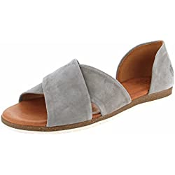 Apple of Eden Damen Ledersandale CHIUSI Profilsohle Light Grey 38