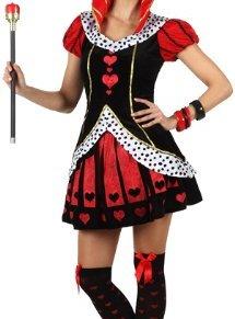 Atosa - Disfraz Reina Corazones - Color Rojo para Mujer Adulto