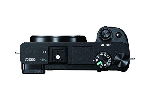 """Sony ILCE6300ZBDI.EU - Cámara sin espejo de 24,2 Mp (pantalla de 3"""", montura tipo E, sensor APS-C CMOS Exmor R, procesador BIONZ X, grabación de vídeo 4K) negro - kit con cuerpo y objetivo SEL1670Z"""