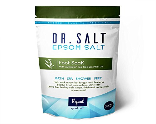 Ryaal Dr.Salt All Natural Therapeutic Soak Epsom Salt with Tea Tree Essential Oil, 5kg