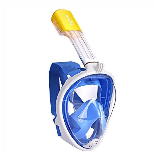 Maschera da Snorkeling,Maschera Subacqueacon con Visuale Panoramica 180° Design Pieno Facciale e Compatibile con Videocamere Sportive Maschera per Immersioni con Anti-appannamento per Adulti Bambini