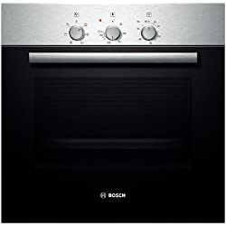 Bosch HBN211E0J - ovens (Built-in, Electric, A-10%, Black, Stainless steel, Rotary, Front)
