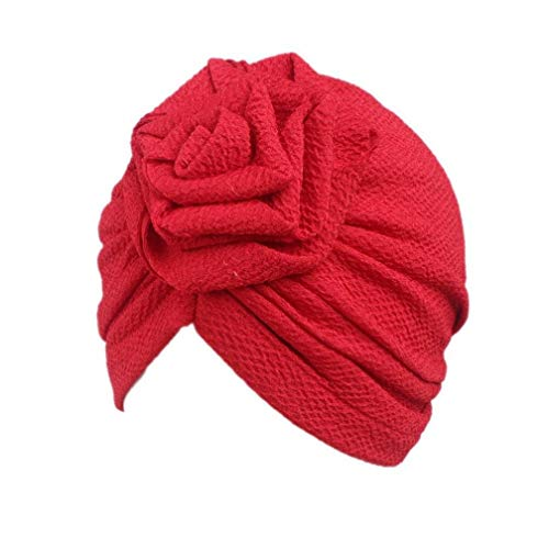 Voberry Girl's Boho Hat Beanie Scarf Turban Head Wrap Cap Specification: for 2-8 Years Old Red