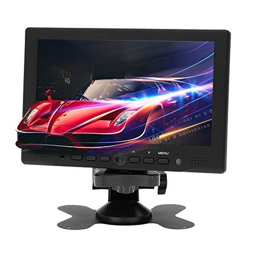 KKmoon, Telecamera Monitor, 7 Pollici TFT LED HD, Monitor per Videosorveglianza, PC AV VGA Ricevitore Ingresso con Spinotto degli Auricolari Pal/NTSC Video Visualizza per CCTV Sorveglianza