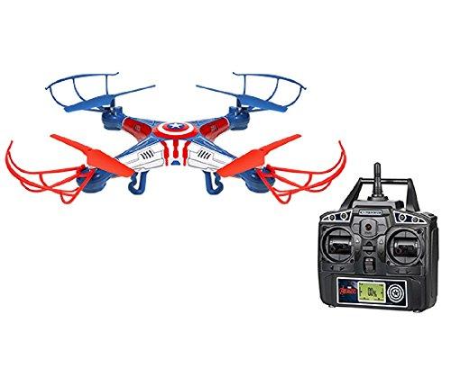 World Tech Toys Marvel Captain America Sky Hero 2.4GHz 4.5CH Radio Comando Drone, 33736