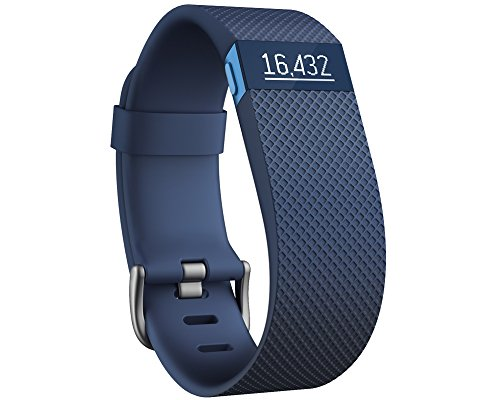 Fitbit Charge HR - Pulsera de actividad y ritmo cardíaco, color azul, talla S