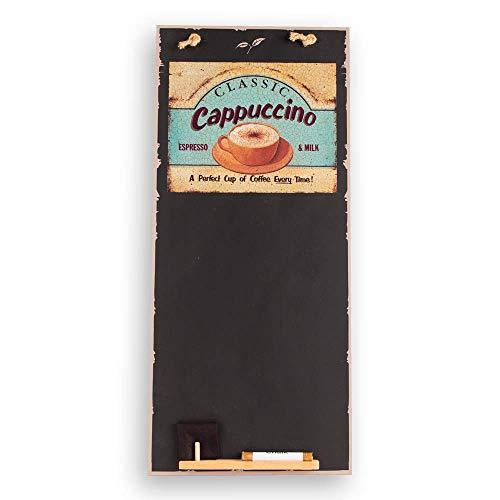 Chalkboards UK Cappuccino Alto Sottile Lavagna/Lavagna/memo Board con Corda da Cucina, Vassoio e...