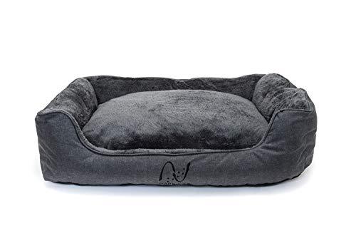 Happilax Letto per Cani di Taglia Media, Lavabile con Cuscini sfoderabili e Bordi rialzati